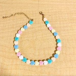 Accessories - 90s pastel heart choker